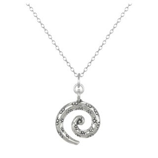 Jewelry by Dawn Antique Pewter Swirl Sterling Silver Cable Chain Necklace
