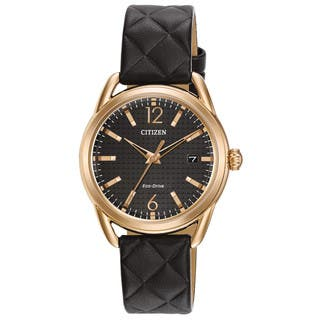Citizen Women's FE6083-13E Eco-Drive Black Leather Watch|https://ak1.ostkcdn.com/images/products/13372762/P20072150.jpg?impolicy=medium