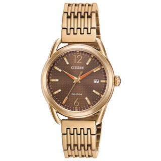 Drive From Citizen Women's FE6083-56X Eco-Drive Gold-Tone Stainless Steel Watch