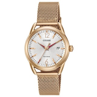 Citizen Women's Drive Gold-tone Mesh/Stainless Steel Watch