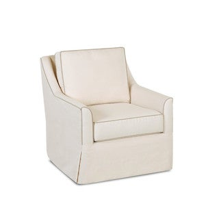 Made to Order Klaussner Leah Off-White Swivel Chair
