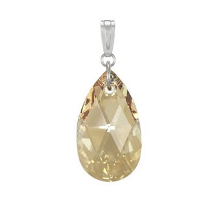 Jewelry by Dawn Golden Shadow Swarovski Crystal Pear Sterling Silver Pendant