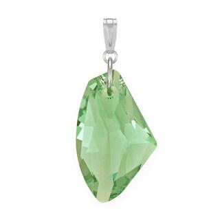 Jewelry by Dawn Peridot Green Swarovski Element Crystal Galactic Sterling Silver Pendant