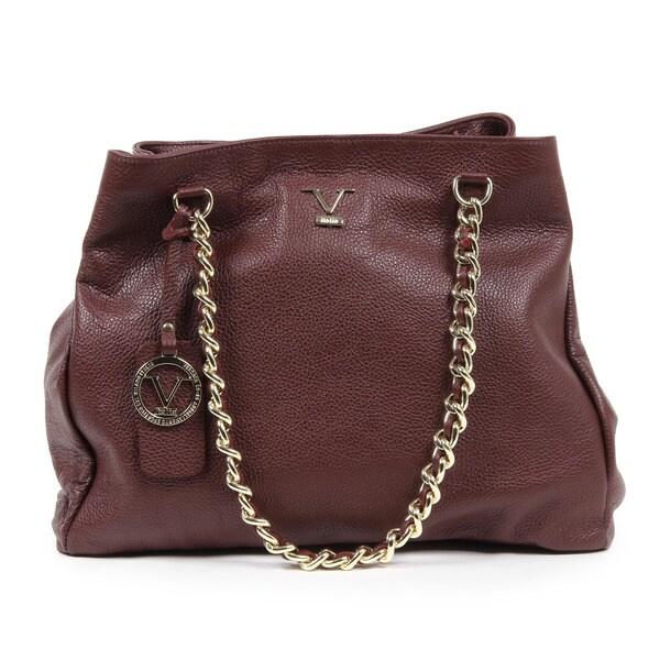 ... Womens Handbag VE014 CLARET RED. Loading zoom  cheap for discount 64c27  55e11 1969 V Italia Burgundy Leather Shoulder Bag ... ce52afa486b25