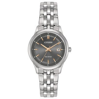 Citizen Women's Eco-Drive Pairs Stainless Steel Watch