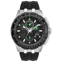 Citizen Men's  Eco-Drive Skyhawk Atomic Timekeeping Black Polyurethane Watch
