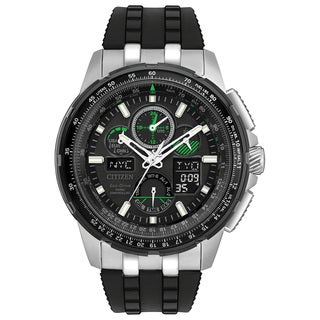 Citizen Men's Eco-Drive Skyhawk Atomic Timekeeping Black Polyurethane Watch