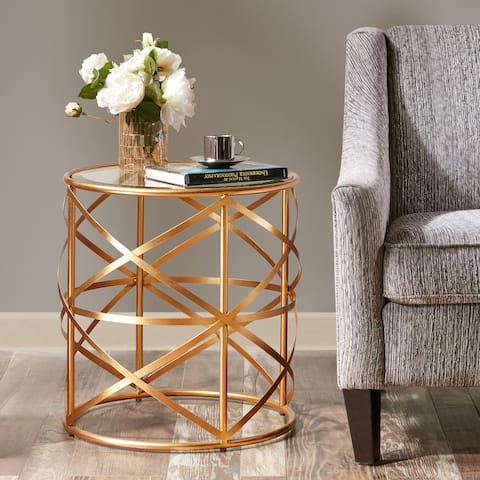 "Madison Park Susie Glam Accent Table 2-Color Option - 20""w x 20""d x 21""h"