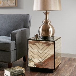 Madison Park Axel Mirrored End Table