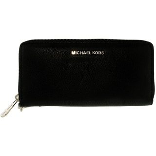 Michael Kors Bedford Black Leather Travel Continental Wallet