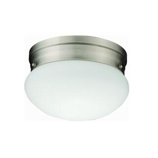 Lithonia Lighting 10976 BNP M4 Polished Brushed Nickel 23 Watt Mushroom Flush Mount