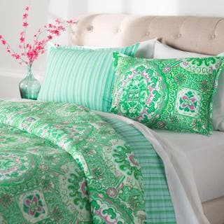 Stone Cottage Lolita Green/ Pink Duvet Cover and Sham Set