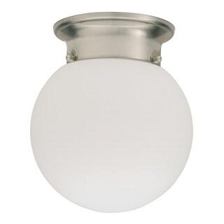 Lithonia Lighting 11981 BNP M4 Polished Brushed Nickel 13 Watt Globe Flush Mount