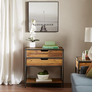 Link to Madison Park Ryker Natural/Graphite Accent Chest Similar Items in Living Room Furniture