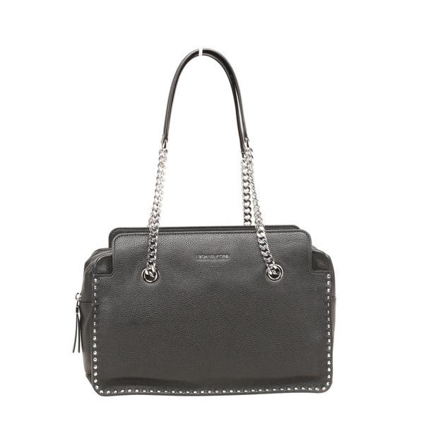 6752c93121a13e Shop Michael Kors Astor Large Black Leather Satchel Handbag - Free ...