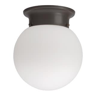 Lithonia Lighting 11981 BZ M4 Bronze 13 Watt Globe Flush Mount