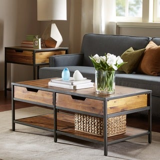 Madison Park Ryker Natural/ Graphite Coffee Table