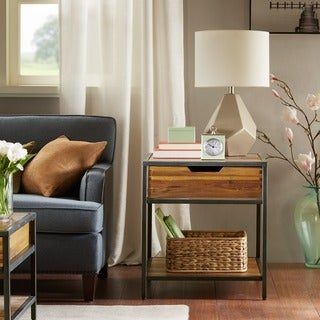 Madison Park Ryker Natural/Graphite End Table