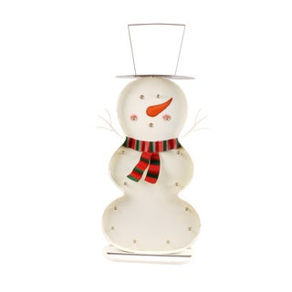 Snow Man Figure with LED Lights
