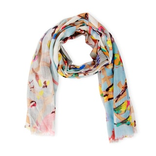 Saachi Women's Birds Modal Scarf (India)