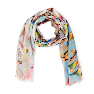 Handmade Saachi Women's Birds Modal Scarf (India)