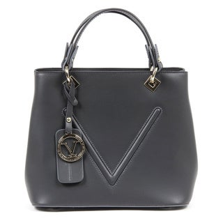 Versace 1969 V Italia Leather Grey Tote Bag