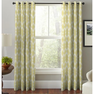 Pointehaven Multicolored Cotton Floral Print Window Curtain Panel Pair
