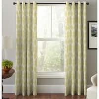 Pointehaven Multicolored Cotton Floral Print Window Curtain Panel Pair