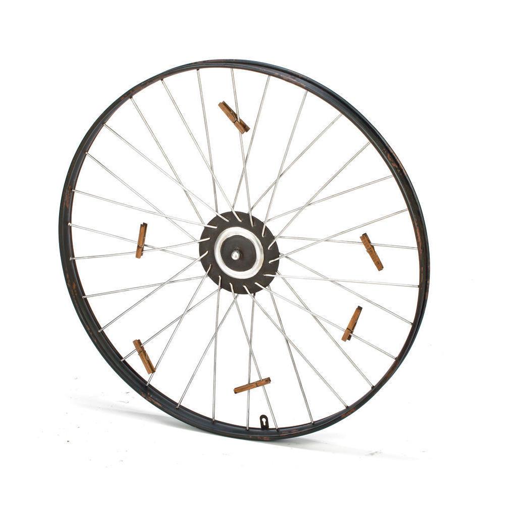 International Metal Bike Wheel With 9 Clothespins (MTL Bi...