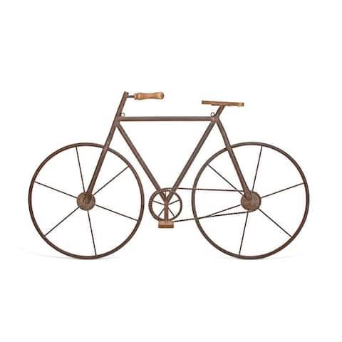 Multicolored Metal/Wood Bicycle Wall Art
