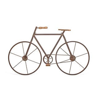 Multicolored Metal/Wood Bicycle Wall Art
