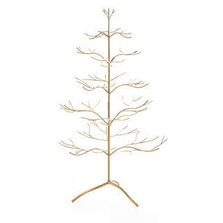 Gold Metal 36-inch Ornament Tree