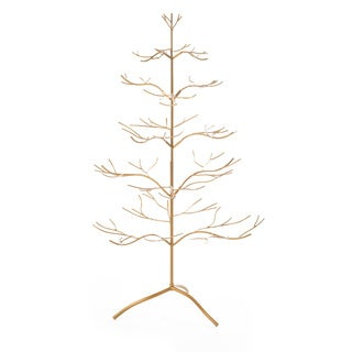 Gold Metal 36-inch Ornament Tree