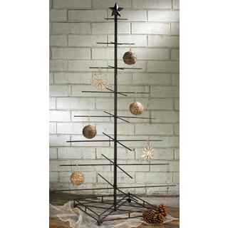 black metal large 32 arm 4 side display christmas tree - Iron Christmas Tree