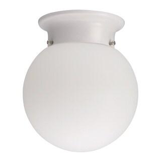 Lithonia Lighting 11981 WH M4 White 13 Watt Globe Flush Mount