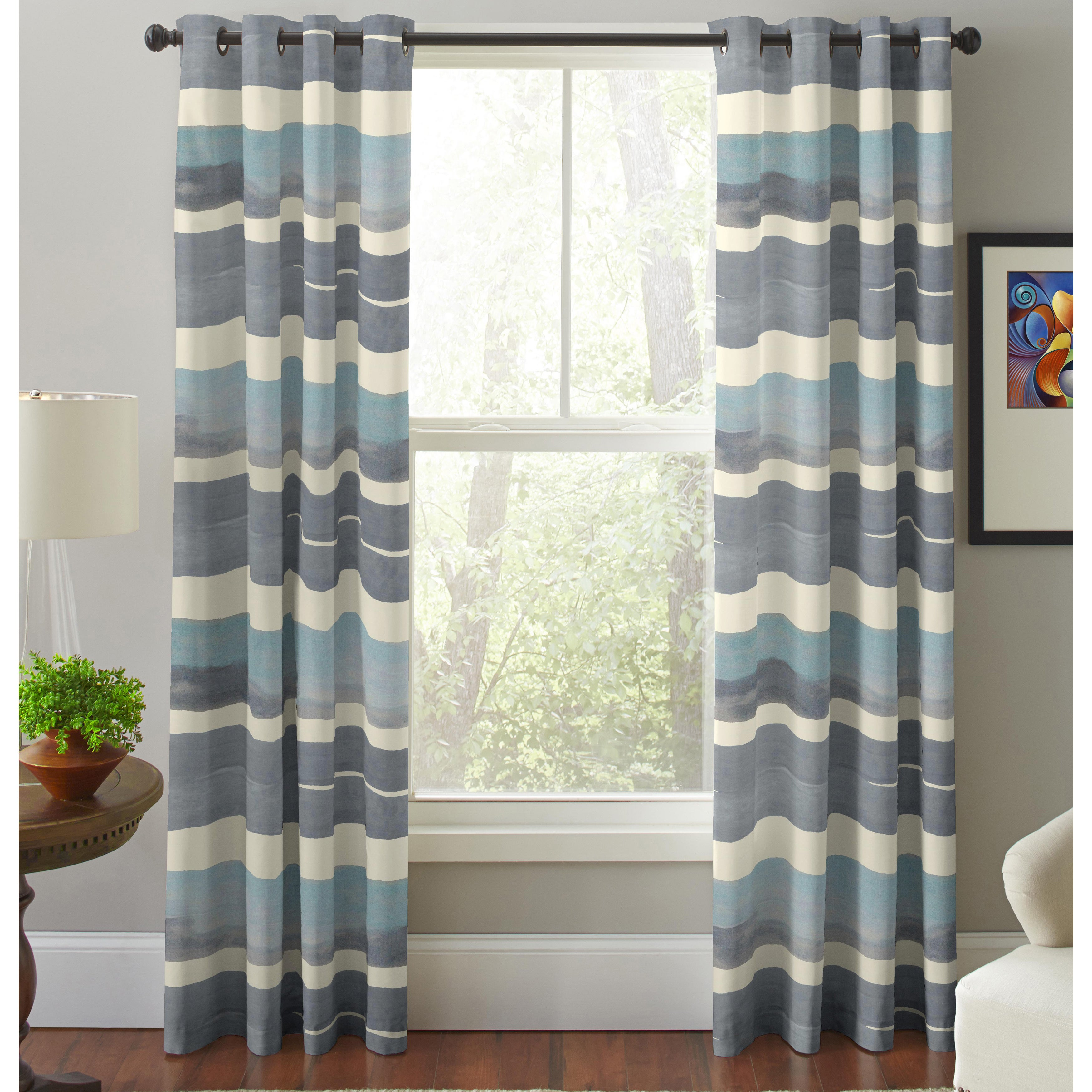 Pointhaven Sky Multicolor Cotton Printed Window Curtain P...