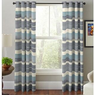 Pointehaven Sky Multicolor Cotton Printed Window Curtain Panel Pair