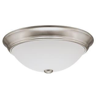 Lithonia Lighting 11983 BNP M2 55 Watt Polished Brushed Nickel Décor Round Flush Mount