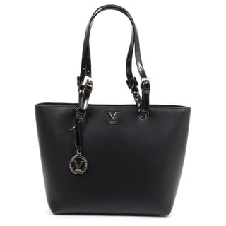 Versace 1969 V Italia Leather Black Tote Bag