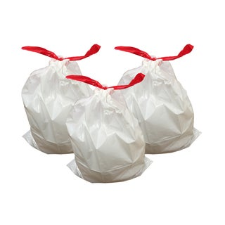 White Plastic 30-45 Liter 10-12 Gallon Durable Garbage Bags for Simple Human J (Case of 30)