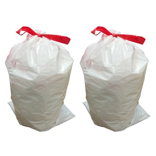 Think Crucial 30-liter/8-gallon Garbage Bag 20-pack for Simple Human G Trash Cans
