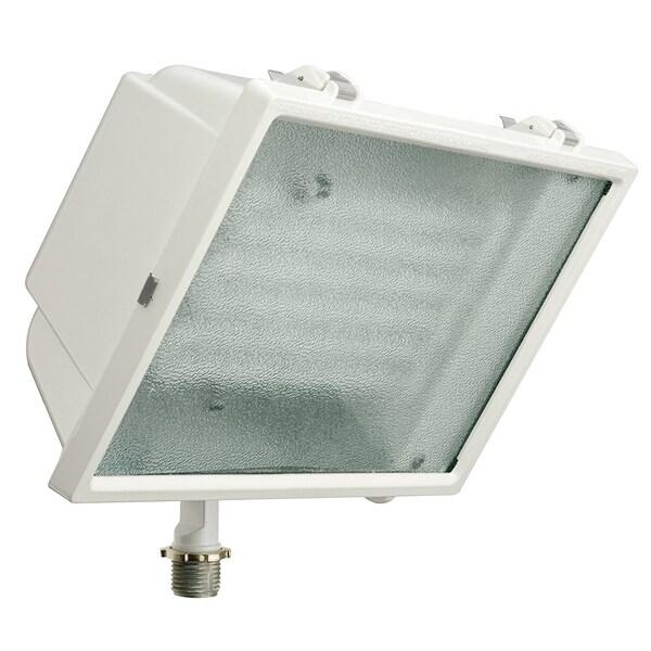 Lithonia Outdoor Led Flood Lights: Shop Lithonia Lighting White Metal LED Outdoor Flood Light