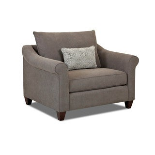 Made to Order Klaussner Furniture Diego Grey Fabric Oversized Armchair