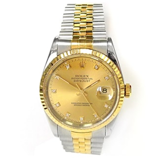Pre-owned 36mm Rolex Two-tone Datejust Watch.
