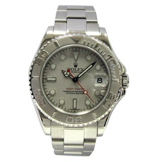 Pre-owned Midsize Rolex Stainless Steel Yachtmaster Watch