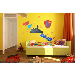 Letter2Word Superhero Wall Decal Concept Kit