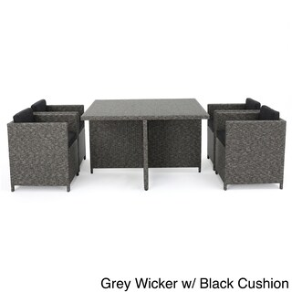 Puerta Outdoor 5-piece Wicker Dining Set with Cushions by Christopher Knight Home (3 options available)