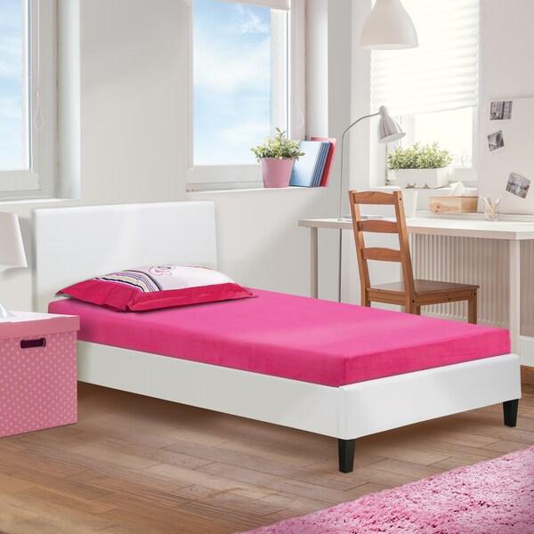 shop sleep sync kids raspberry 5 inch twin size memory foam mattress free shipping today. Black Bedroom Furniture Sets. Home Design Ideas
