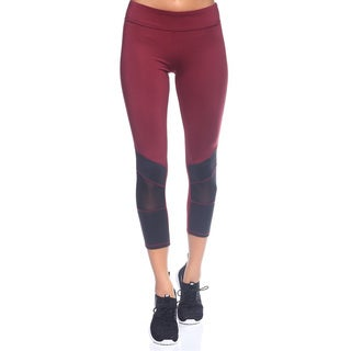 The Free Yoga Women's Mixed Material 3/4 Capris