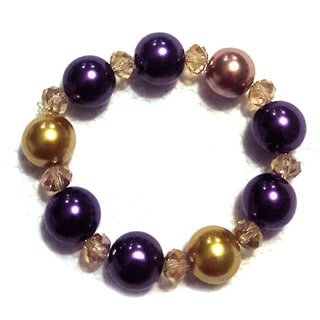 Single Row Faux Pearl Stretch Bracelet